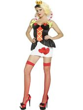 Adult Sexy Wonderland Queen of Tarts Ladies Hearts Fancy Dress Costume Outfit