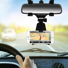 Car Rearview Mirror Mount Stand Holder Cradle for Cellphone iPhone Samsung GPS