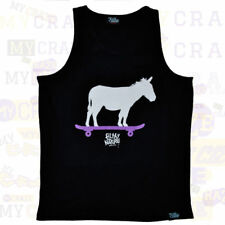 FILTHY DRIPPED Donkey on Skateboard Black Tank Top