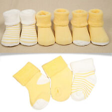 3 Pairs Lovely Infant Newborn Baby Boy Girl Cotton Comfortable Socks For 0-3 Y
