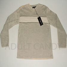 New Mens Genuine FCUK V Neck Grey Jumpers Pullover Top Sweaters Size M L RRP £45