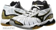 NEW MIZUNO Volleyball shoes WAVE TORNADO X MID V1GA1617 WHITE/ BLACK/ GOLD JAPAN