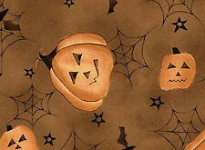 Pumpkin Halloween Fabric - Quality 100% Cotton Fabric
