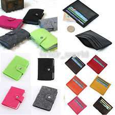 MENS WOMEN LUXURY SOFT CREDIT CARD HOLDER MINI WALLET PURSE NOTE BILL CASE POUCH