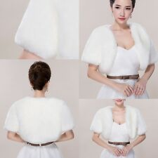 Wedding dress Short sleeve jacket Winter Bride warm Fake fur shawl coat Boleros
