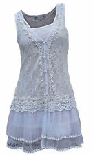 NWT Pretty Angel Clothing Lady Chantal Lace Two Piece Tunic In White 66565