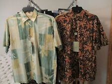 Size Small ~Bamboo Cay~ Men's 100% Cotton Lawn Tropical Shirt NWT