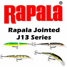 Rapala Jointed Balsa Minnow J13 FT/S/RT/YP  Bass Muskie Pike Trolling Lures