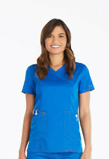 Dickies Scrubs Mock Wrap Top DK804 ROY Royal Free Shipping
