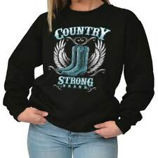 Country Strong Boots Wings Rodeo Western Cowgirl Gift Ideas Sweatshirt