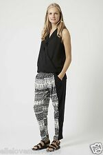Brand New Topshop Maternity Aztec Print Jersey Tapered Leg Trousers size uk 10