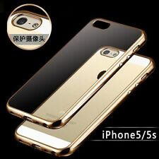 Luxury Glossy Shockproof Metallic Rubber TPU Case Cover for Apple iPhone SE 5&5s