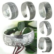 Women BOHO Tibetan Tibet Silver Totem Bracelet Open Bangle Cuff Jewelry