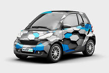 Abstract geometric 3D  Printed Graphic Vinyl Car Wrap Decal Sticker roof hood