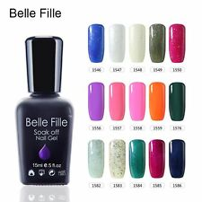 BELLE FILLE 237 Colors Nail Gel Polish Soak-off UV/LED Manicure 15ml Nail Art US