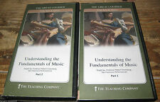 THE GREAT COURSES DVD's  Understanding The Fundamentals Of Music DVD's Part 1&2