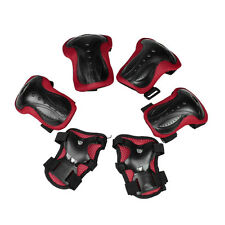 25S8 Skating Pads Palm Knee Elbow Support Protector Black Red for Lady Man