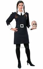Adult Addams Family Wednesday Ladies Halloween Fancy Dress Costume Party Outfit