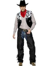 SALE! Adult Wild West Cowboy Western Mens Fancy Dress Stag Party Costume Outfit