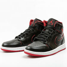 Nike Air Jordan 1 Mid BG Black Black White Gym Red 554725 028