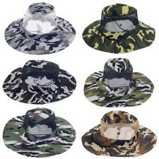 Camo Military Boonie Hat Hunting Army Fishing Bucket Bush Jungle Cap Men Women