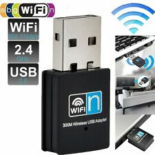 150/300Mbps Mini USB WiFi Wireless Adapter Dongle Network LAN Card 802.11n/g/b#@