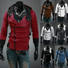 Stylish Creed Hoodie Cool Slim Fit Men Cosplay For Assassins Jacket Coat Costume