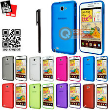 Matte TPU Rubber Gel Case Cover for Samsung Galaxy Note SGH-i717 N7000 Blue