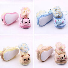 Newborn Baby Boy Girl Anti-slip Indoor Warm Socks Soft Sole Cat Shoes 0-1Y