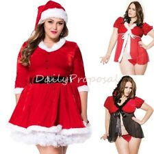 Sexy Christmas Santa Dress & Lingerie Adult Women Plus Size Halloween Costume US