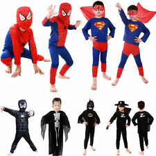Boy Kids Children Superhero Fancy Dress Costume Batman Spiderman Cosplay Costume