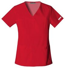 Cherokee Scrubs Flexibles V Neck Scrub Top 2968 Red