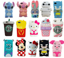 Cute Kids Girl 3D Cartoon Silicone Soft Case Skin For iPhone 4s 5 SE 6s