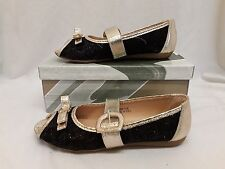 Ladies Womens Black Gold Silver Buckle Flats Open Peep Toe Pumps Flat Shoes Size