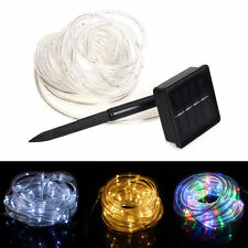 Solar Powered Rope 100 LED Tube Garden Outdoor Fairy Xmas String Light Tree Lamp