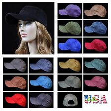 Plain Baseball Cap Suede Visor Trucker Hat Caps Solid Hats Unisex Sports Black