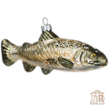 Christmas Tree Ornament Glass Figure Figurine Fish - Decorations