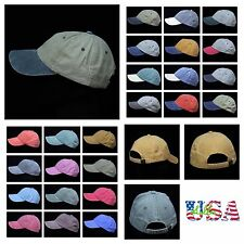 Men's Baseball Cap Faded Vintage Wash Polo Style Hat Sports Casual Fashion Caps