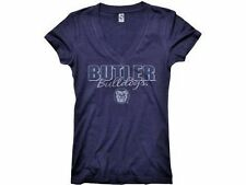 Butler University Bulldogs Drop Script Women's V-Neck T-Shirt NWT 40% off!