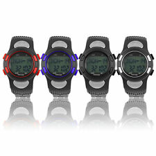 3D Pulse Heart Rate Monitor Calories Counter Pedometer Sport Watch Waterproof F5