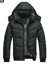 Fashion Casual Mens Slim Cotton Padded Jacket Coat Quilted Hooded Parka Outwear