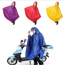 New Waterproof Motorcycle Riding Raincoat Long Poncho Raincoat Rainwear lot DP