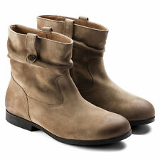 BIRKENSTOCK SARNIA TAUPE WOMEN'S BOOTS SUEDE LEATHER ANKLE BOOT BLOCK WEDGE