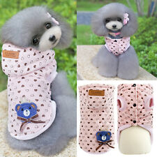 Fashion Warm Winter Hoodie Cotton Coat Clothes Costume For Pet Dog Puppy 2016