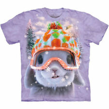 WHITE SNOW BUNNY Rabbit Face T Shirt The Mountain Snowboard Skiing Tee S-4XL 5XL