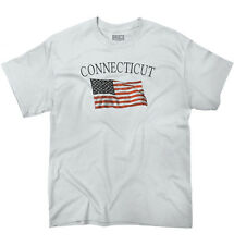 Connecticut Patriotic Home State American USA T Shirt Flag T-Shirt Tee