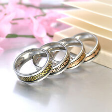 Gold Silver Dragon Men Stainless Steel Wedding Rings Cool Band Ring Size 7-12