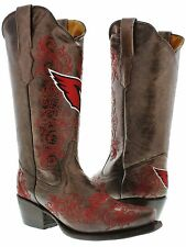 Womens NFL Collection Arizona Cardinals Leather Western Cowboy Cowgirl Boots