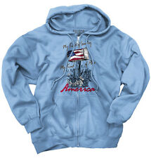 My Country Town Bald USA T Shirt American Flag Vintage Gift Zipper Hoodie