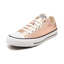 New Converse Chuck Taylor All Star Lo Metallic Sneaker Rose Gold Womens Shoes